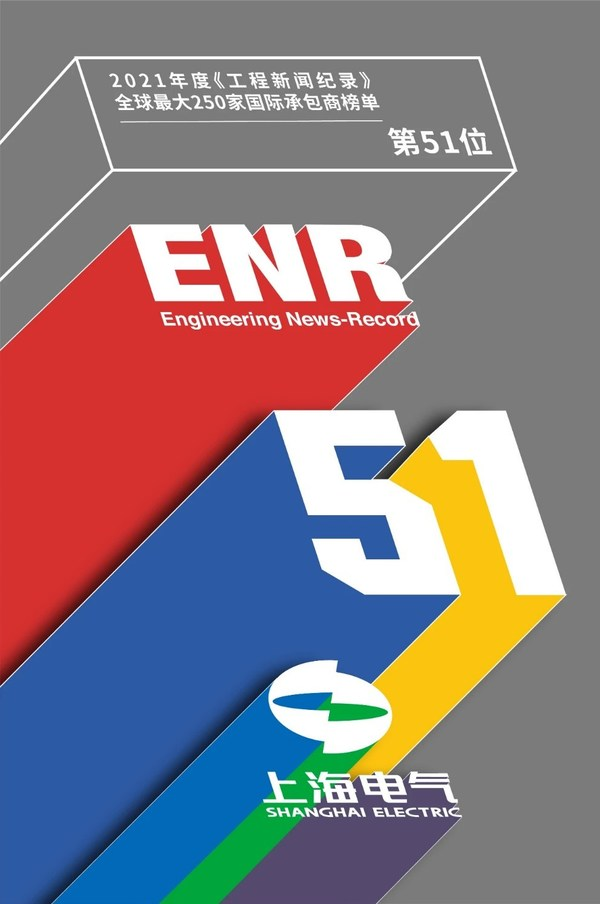 "ENR 发布""全球最大250家国际承包商"",上海电气升至51位"