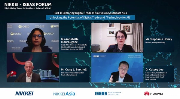 Panelists in discussion of digital trade initiatives in Southeast Asia