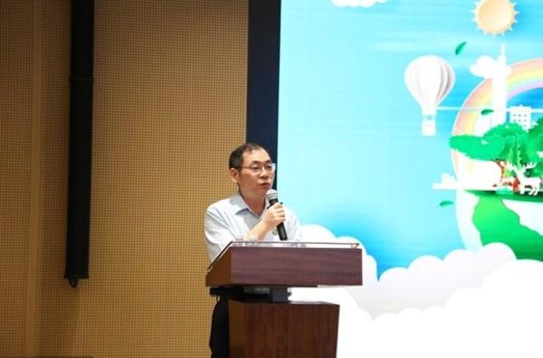 比亚迪品质部负责人在中国汽车品牌首个零碳园区项目启动仪式上讲话