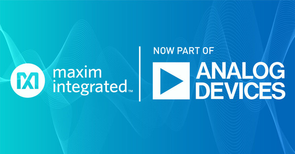 Analog Devices 完成對Maxim Integrated之收購