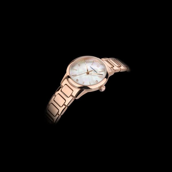 Emporio Armani 瑞士腕表系列 女士三指针玫瑰金色不锈钢腕表 (ARS5301)