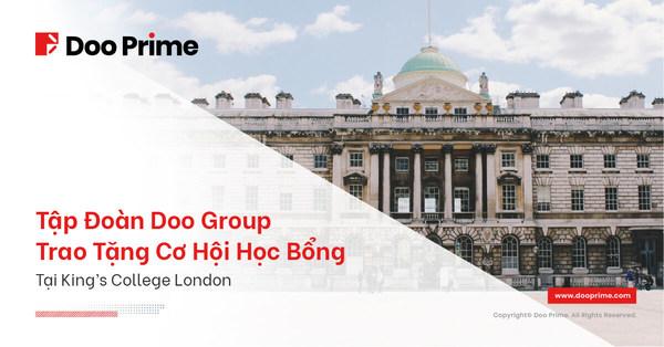 Công Ty Mẹ Của Doo Prime, Tập Đoàn Doo Group, Trao Tặng Cơ Hội Học Bổng Tại King's College London