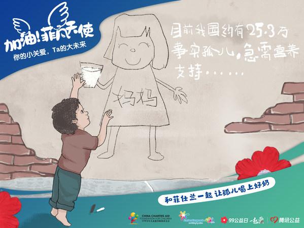 菲仕兰联合中华儿慈会发起孤儿喝奶项目,为1-3岁事实孤儿提供营养支持