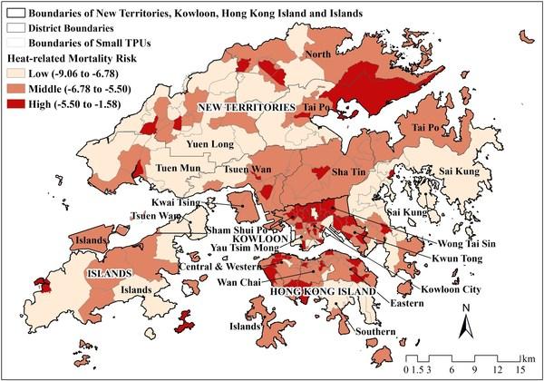 Pemetaan tentang risiko-risiko di balik kasus kematian akibat cuaca panas, Hong Kong