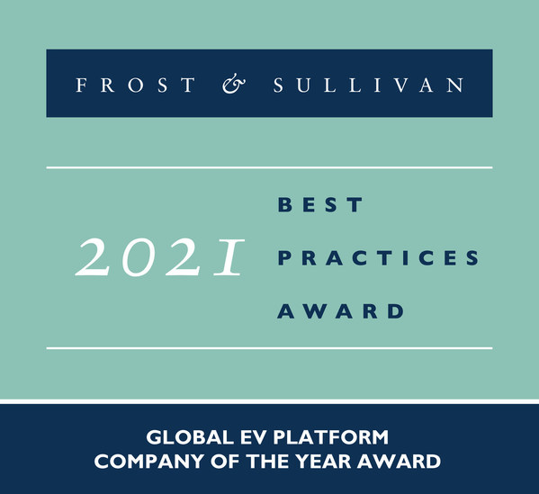 2021 Global EV Platform Company of the Year Award