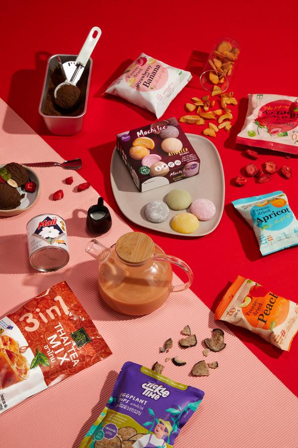 Anda dapat mengeksplorasi enam tema koleksi produk di aula pameran virtual THAIGROOVE!