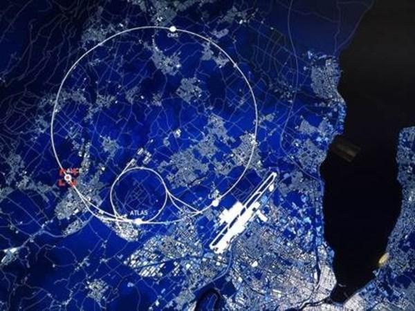 10(12次方)电子伏特加速器俯瞰图