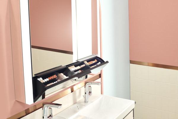科勒博纳2.0镜柜 便捷翻抽设计 口红吧