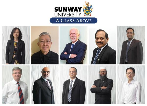 第一排(從左到右)分別是:Chia教授、Teo教授、Poppema教授、Agamutu教授、Adarsh教授;第二排(從左到右)分別是:Edward教授、Pervaiz教授、Kheireddine教授、Saidur教授和Yau教授