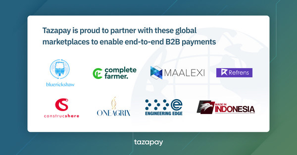 Tazapay Partners with B2B Marketplaces to Further Enable International Trade with Escrow Payments