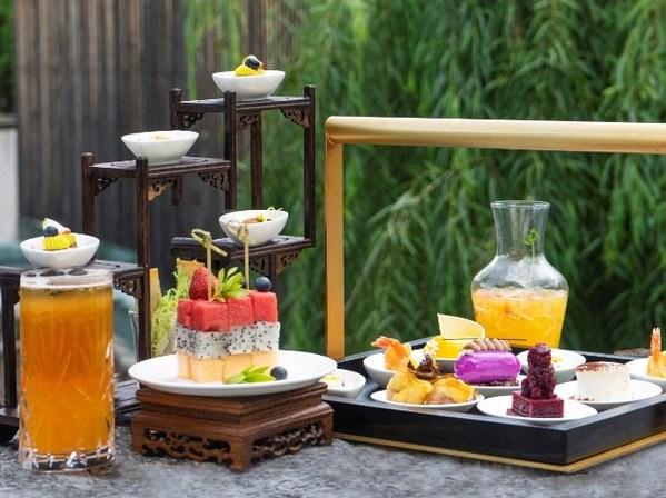 丽江和府洲际度假酒店大堂时光吧推出木府主题下午茶