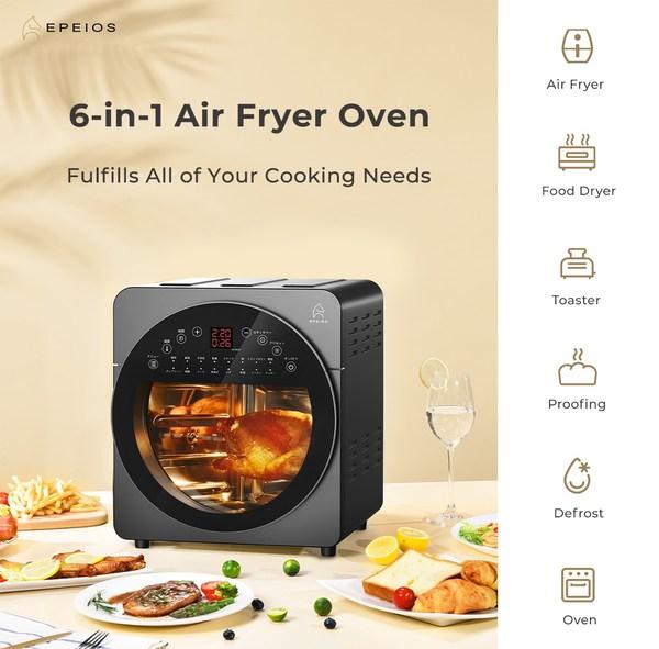EPEIOS的14升大容量六合一空气炸锅烤箱,让大家的烹饪游刃有余