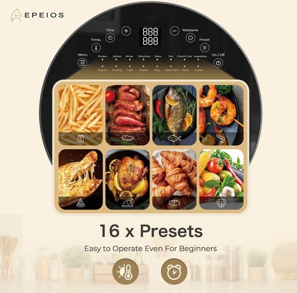 EPEIOS的14升大容量六合一空氣炸鍋烤箱,讓大家的烹飪游刃有余