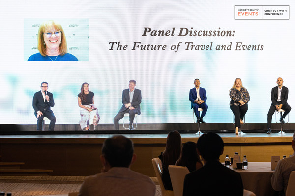 """Marriott International together with industry leaders discussed future trends at its first hybrid event in Asia Pacific – """"Be There with Marriott International – The Path Forward for Travel and Events""""."""