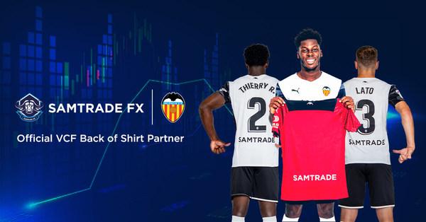 Samtrade FX เซ็นสัญญาเป็นสปอนเซอร์สโมสรบาเลนเซียในลาลีกา