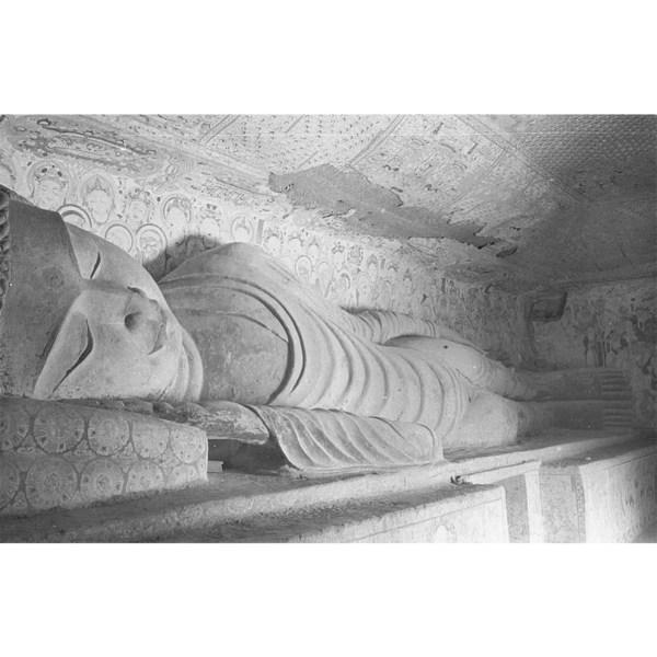 第158窟,西壁涅槃佛像