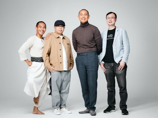 """""""We Are What We Eat"""" artists and EchoX's incubator (from left): contemporary artist Billy Chang, VR gold award director Hsin-Chien Huang, 2-star michelin chef André Chiang and LeadBest Consulting Group's CEO Neil Lee"""