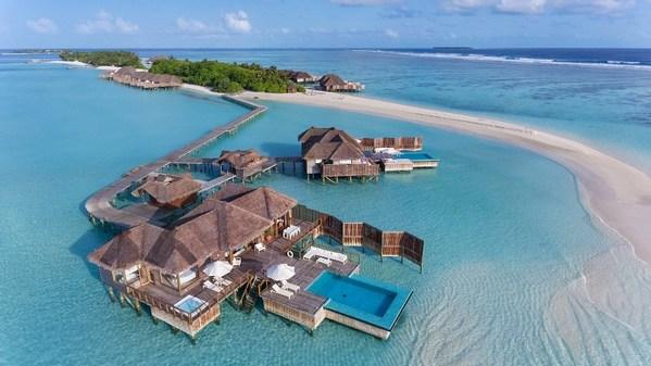 Conrad Maldives Rangali Island - Sunset Water Villa (ภาพถ่ายมุมสูง)