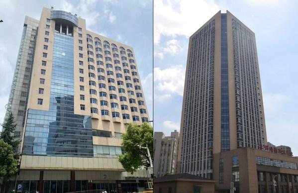三阳广场项目(左)与科学城项目(右)