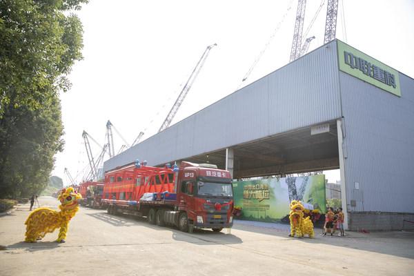 ズームライオンが中国最大トン数のクローラークレーンを輸出し、ハイエンド製造の記録を更新
