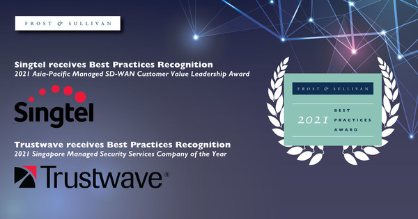 Singtel and Trustwave Earn Acclaim from Frost & Sullivan for Their Managed SD-WAN and Security Services, Respectively