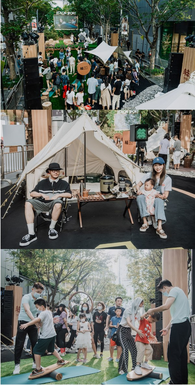 可隆都市露营;山间露营;郊野露营互动区域及产品陈列