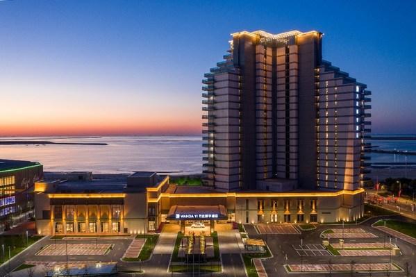 位于营口鲅鱼圈,坐拥180度无敌海景的营口万达颐华酒店。