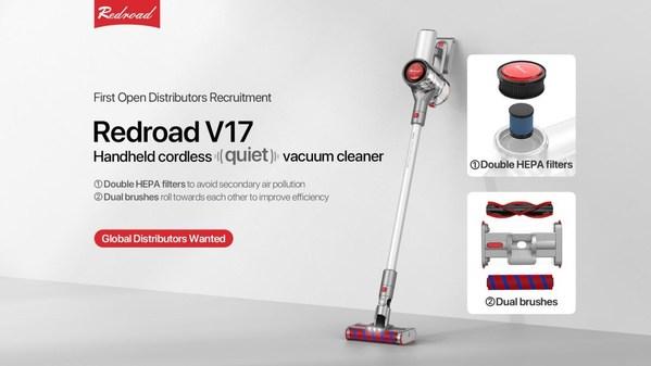 Redroad V17: Máy hút bụi không dây được sản xuất với chất lượng hàng đầu
