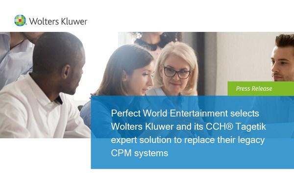 威科集团CCH Tagetik专家解决方案助力完美世界取代其传统CPM系统