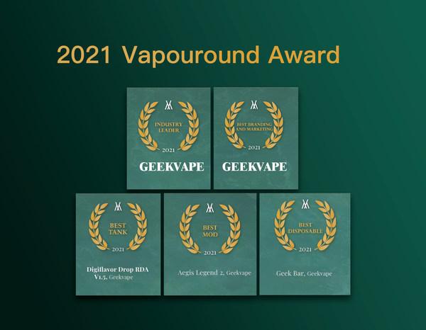 Chinese vape brand Geekvape garners five awards at Vapouround Award 2021