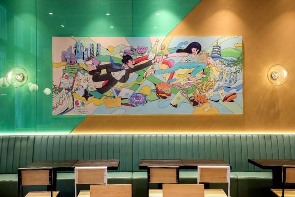 Shake Shack联名亚洲插画师协会会员杭州独立艺术家三没仙人打造艺术插画