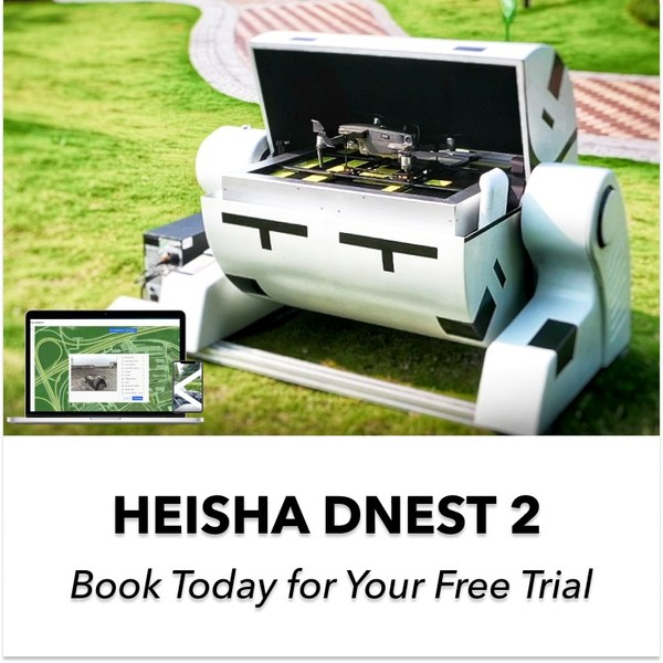 HEISHA DNEST2 is the second generation drone-in-a-box solution. DNEST2 is compatible with DJI drones and Autel Drones, Parrot, Skydio.