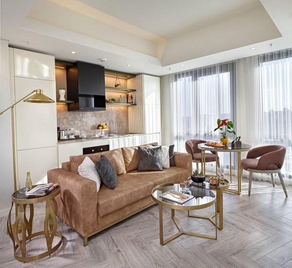 伊斯坦布尔万达文华公寓起居室