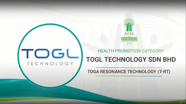 TOGL Technology Sdn Bhd Awarded at the Asia Responsible Enterprise Awards 2021 for 'Toga Resonance Technology (T-RT)' under Health Promotion Category