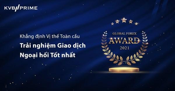 KVB PRIME đạt giải thưởng Trải nghiệm giao dịch ngoại hối tốt nhất