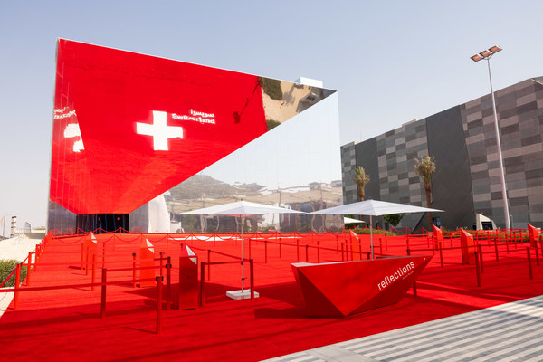 General view of the Swiss Pavilion, Expo 2020 Dubai