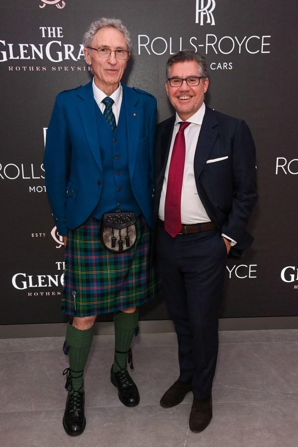 Glen Grant(R)がロールスロイスと手を組み独占的発売イベントを開催し、デニス・マルコム60年記念版を祝う