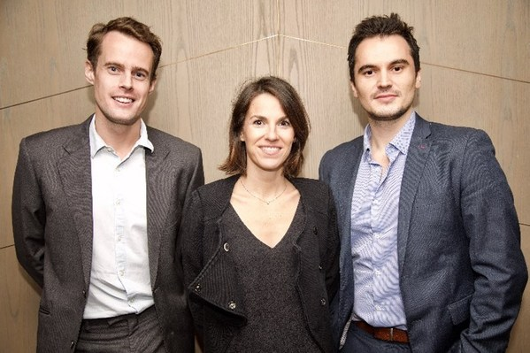 Sequential Skin team: Dr Oliver Worsley, CEO/cofounder (left), Petronille Houdart, PharmD and skincare director (middle), Dr Albert Dashi, CSO/cofounder (right).