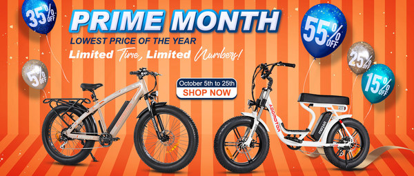 Addmotor Starts Prime Month With The Electric Bike & Accessories Sale