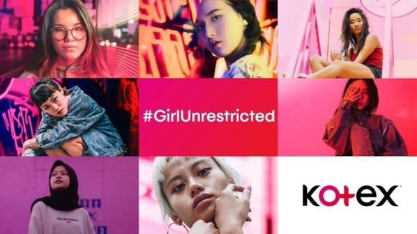 Kotex「國際女童日」於亞太區市場同步推出「#GirlUnrestricted」短片,鼓勵女孩擁抱自己的獨特性,打破框架,突破自己。