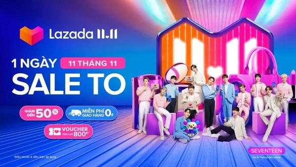Lazada chào đón siêu sao hàng đầu K-pop SEVENTEEN