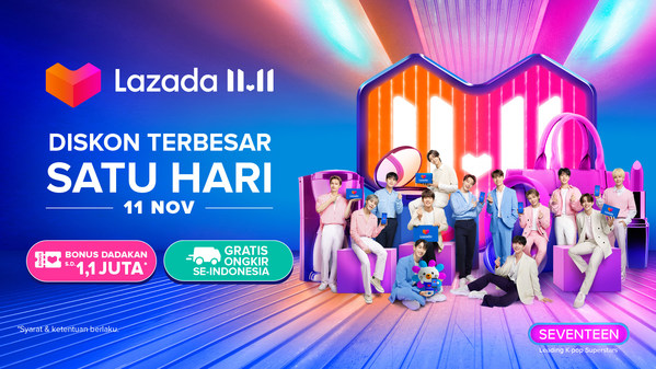 "Lazada Sambut Mega Bintang K-Pop Terkemuka SEVENTEEN sebagai ""Lazada Happiness Ambassadors"" pertama"