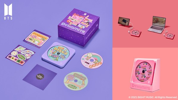 HLDS, 'BTS Dynamite Multi OS DVD Writer' a licensed product inspired by BTS Dynamite, will be released.
