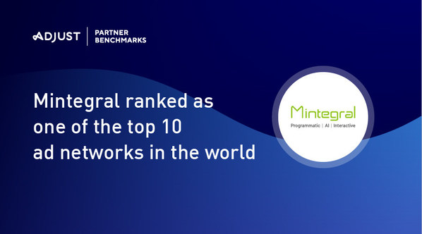 Mintegral ranked as one of the top 10 ad networks in the world on the Adjust Partner Benchmarks report