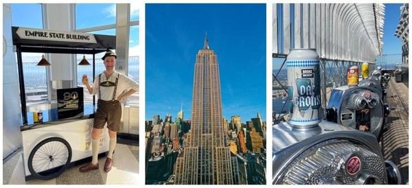 엠파이어 스테이트 빌딩이 ESB 팝업 프로그램의 두 번째 공급업체로 브롱크스 브루어리와 파트너십을 맺어 방문객들에게 음료와 간식을 제공합니다