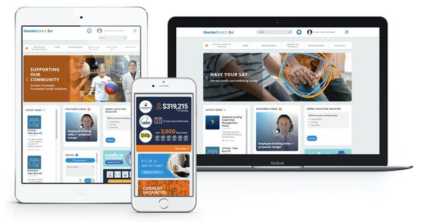 Greater Bank Wins Silver at the 2021 Intranet and Digital Workplace Awards with its Intranet Built on the Elcom Digital Employee Experience Platform