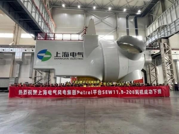 Shanghai Electric Lancar Platform Petrel Turbin Pacuan-Langsung 11 MW SEW11.0-208