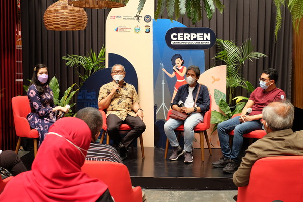 CHSE Event Protocol Story (CERPEN): Ministry of Tourism and Creative Economy Socializes New Protocols to Revive Event Business in Medan