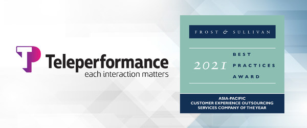 Teleperformance Lauded by Frost & Sullivan for Combining Human and Technology Solutions to Offer a Superior Customer Experience