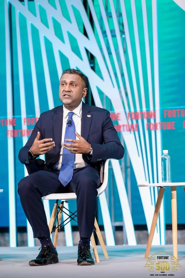 阿迪达斯大中华区董事总经理唐杰琛出席2021《财富》世界500强峰会